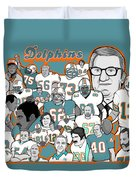 Dolphins Ring Of Honor Duvet Cover by Gary Niles