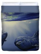 Dolphins Underwater Game Duvet Cover