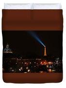Dome Eiffel Tower Paris France Duvet Cover