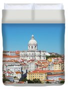 Dome Of Gothic Church In Lisbon Duvet Cover