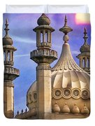 Domes In The Sunset Duvet Cover