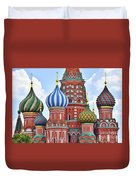 Domes Of St. Basil Duvet Cover