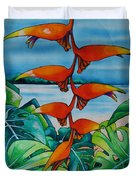 Dominican Heliconia Duvet Cover