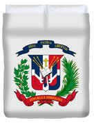 Dominican Republic Coat Of Arms Duvet Cover