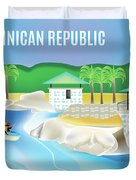 Dominican Republic Horizontal Scene Duvet Cover