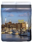 Domino Sugars Sign Duvet Cover