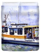 Don And Kathys Boat Duvet Cover