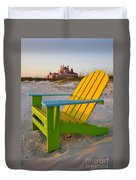 Don Cesar And Beach Chair Duvet Cover