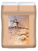 Don Quijote Windmills 06 Duvet Cover