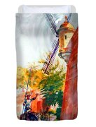 Don Quixote In San Juan Duvet Cover