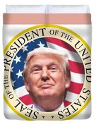 Donald Trump Us President United States Seal  Duvet Cover