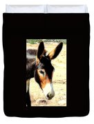 A Donkey Doesn't Need A Rider To Be Happy   Duvet Cover
