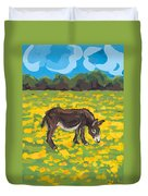 Donkey And Buttercup Field Duvet Cover