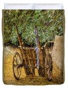 Donkey Cart Duvet Cover