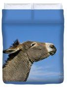Donkey Demanding A Treat Duvet Cover