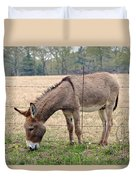 Donkey Finds Greener Grass Duvet Cover