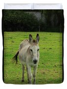 Donkey On A Farm Duvet Cover