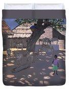 Donkeys Lamu Kenya Duvet Cover