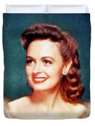 Donna Reed By John Springfield Duvet Cover