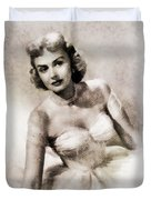 Donna Reed, Vintage Actress By John Springfield Duvet Cover