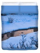 Donnelly Creek In Winter Duvet Cover