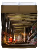 Donner Snow Sheds 8 - Ghosting Duvet Cover by Jim Thompson