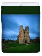 Donnington Castle At Dusk Duvet Cover