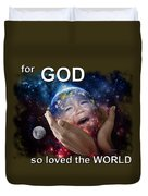 Don't Cry Little Earth Duvet Cover