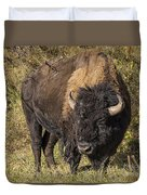 Don't Mess With This Bison Duvet Cover