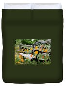 Don't Sit On The Poppies Duvet Cover