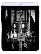 Don't Walk At Times Square Duvet Cover