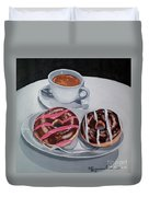 Donuts And Coffee- Donas Y Cafe Duvet Cover