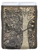 Doodle Bird Duvet Cover
