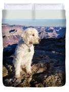 Doodle On Grand Canyon Rim Duvet Cover