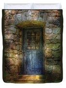 Door - A Rather Old Door Leading To Somewhere Duvet Cover