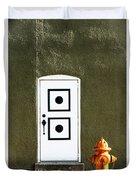 Door And Orange Hydrant  Duvet Cover