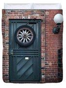 Door And Wheel Duvet Cover