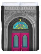 Door Fushia Duvet Cover