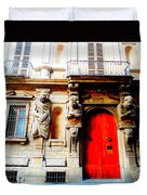 Door To Milan Duvet Cover by Michelle Dallocchio