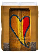 Door With Heart Duvet Cover by Joana Kruse