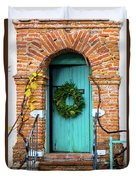Door With Holiday Reef Duvet Cover