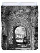 Doors At Ballybeg Priory In Buttevant Ireland Duvet Cover