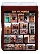 Doors Of Albuquerque Duvet Cover