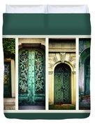 Doors Of Woodlawn Duvet Cover