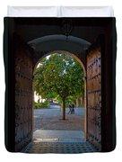 Doorway And Arch Between Gardens Duvet Cover