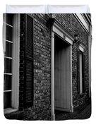 Doorway Black And White Duvet Cover