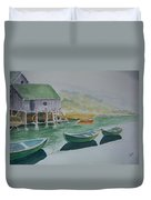 Dories In Waiting Duvet Cover