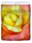 Dorie's Rose Duvet Cover