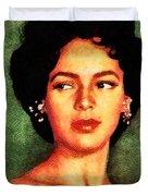 Dorothy Dandridge, Vintage Hollywood Legend Duvet Cover