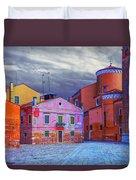Dorsoduro Colors Under The Clouds 2 Duvet Cover